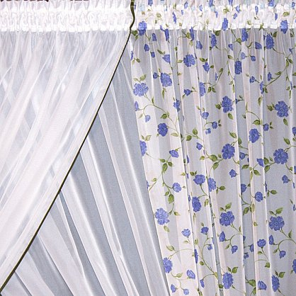 Занавеска М253-4, синий, 410*170 см (bt-104008), фото 2