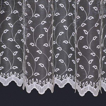 Тюль микросетка с вышивкой T142-1, белый (bt-200161-gr), фото 2