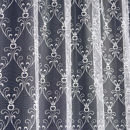 Тюль микросетка с вышивкой T144-1, белый (bt-200317-gr), фото 3