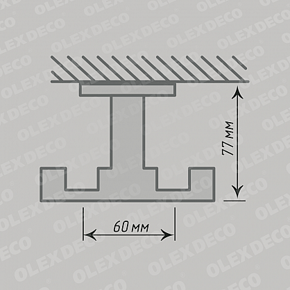 Кронштейн «Лион I», 1-рядный, хром мат, диаметр 19 мм-A (o-0580119-A), фото 3