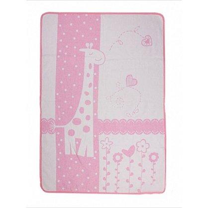 """Одеяло детское """"Чунга-Чанга"""", белый, розовый, 100*140 см (od-ch-belrz-100), фото 1"""