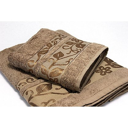 """Набор полотенец """"Класс"""" в новогодней упаковке """"Овечки"""", коричневый, большой (F-class-kor-ovtsa-b), фото 2"""