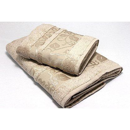 """Набор полотенец """"Класс"""" в новогодней упаковке, бежевый, малый (F-class-b-m), фото 2"""
