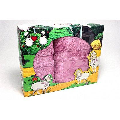 """Набор полотенец """"Класс"""" в новогодней упаковке """"Овечки"""",черника, малый (F-class-chern-ovtsa-m), фото 1"""