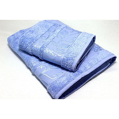 """Набор полотенец """"Класс"""" в новогодней упаковке, голубой, малый (F-class-g-m), фото 2"""