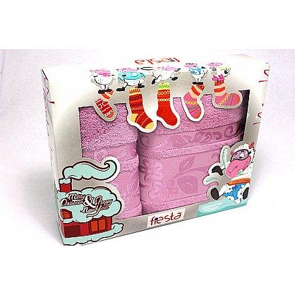 """Набор полотенец """"Класс"""" в новогодней упаковке,черника, малый (F-class-chern-m), фото 1"""