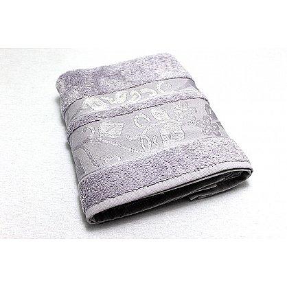 """Набор полотенец """"Класс"""" в новогодней упаковке,серый, малый (F-class-sery-m), фото 2"""