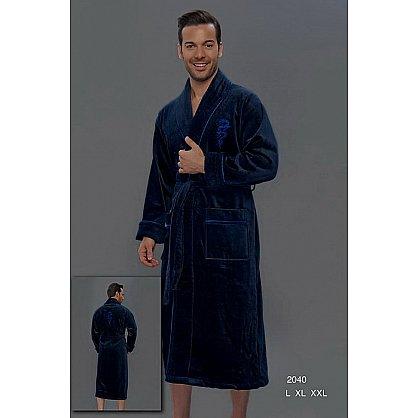 Халат мужской Virginia Secret, Синий, р. XL (52) (tg-100028), фото 1