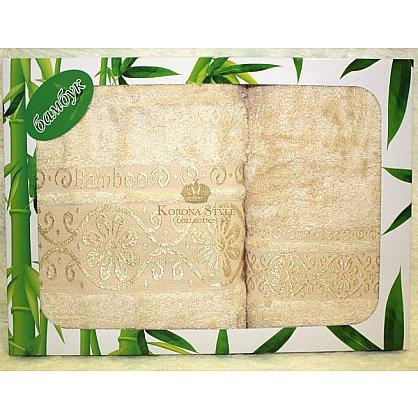 Набор Бамбук  ромашка бежевый, 50*90 - 2 шт. (KS8067-3-bez), фото 1