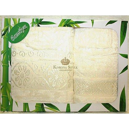 Набор Бамбук  ромашка белый, 33*74+50*90 см (KS8067-1-bel), фото 1