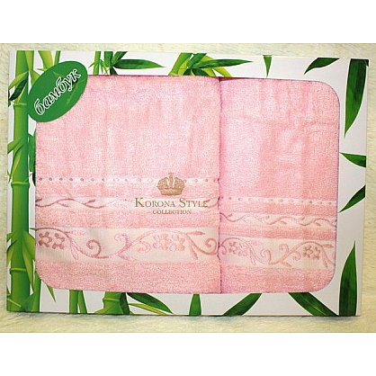 Набор Бамбук леди розовый, 33*74+50*90 см (KS8074-1-roz), фото 1