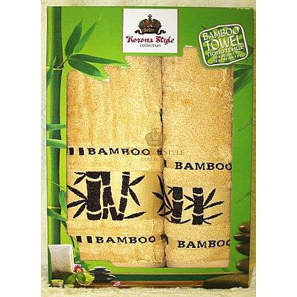 Набор полотенец Бамбук тропик желтый, 33*74 - 2 шт. (KS8270-2-z), фото 1
