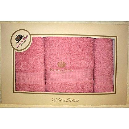 Набор Однотонный розовый, 33*74+50*90+70*140 см (KS8251-1-roz), фото 1