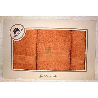 Набор Однотонный оранж, 33*74+50*90+70*140 см (KS8251-1-or), фото 1