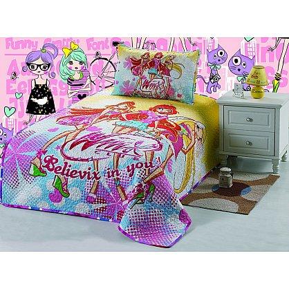 Покрывало детское Cтеганый сатин дизайн 32, 155*200 см (tg-CB112013-32), фото 1