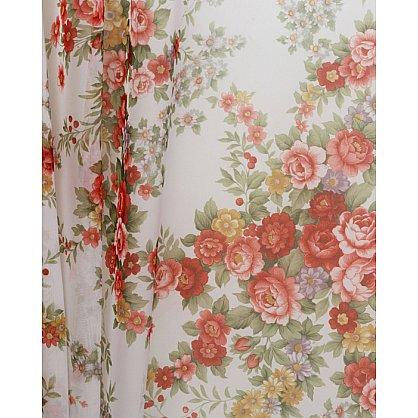 Тюль вуаль принт №Р101-03 Цветы на белом-A (add-P-101-03-A), фото 2