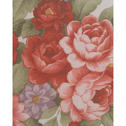 Тюль вуаль принт №Р101-03 Цветы на белом-A (add-P-101-03-A), фото 3