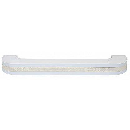"""Карниз потолочный пластиковый поворотный """"Акант"""", 2 ряда, белый (add-200089-gr), фото 1"""