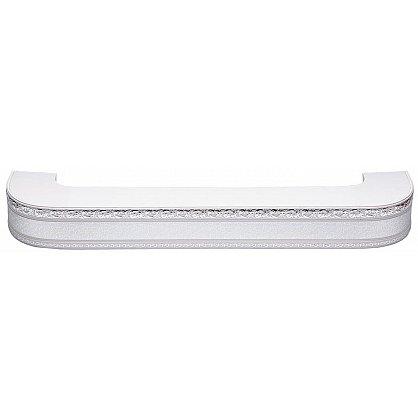 """Карниз потолочный пластиковый поворотный """"Гранд"""", 2 ряда, серебро (add-200119-gr), фото 1"""