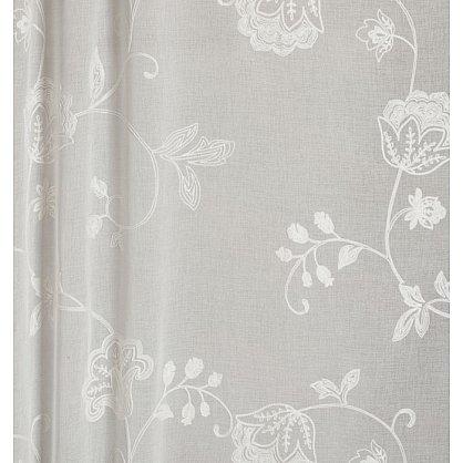 Тюль имитация льна с вышивкой №IE105-01 Белый (add-IE-105-01), фото 2