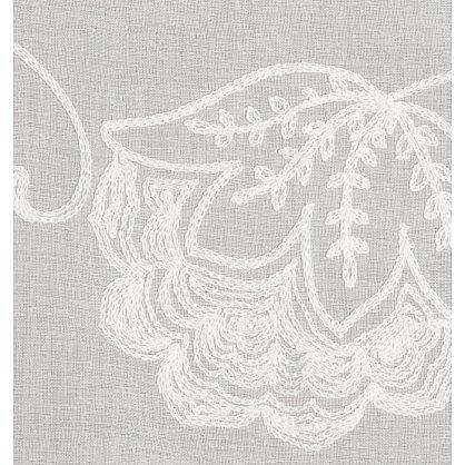 Тюль имитация льна с вышивкой №IE105-01 Белый (add-IE-105-01), фото 3