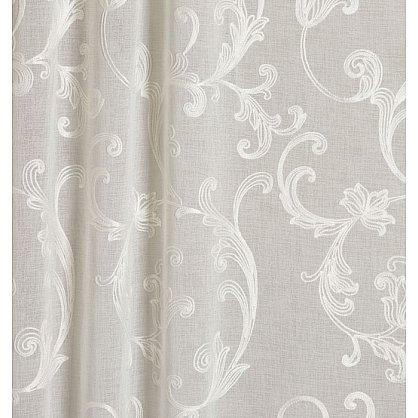 Тюль имитация льна №IE107-01 белый с белой вышивкой (add-100001), фото 2