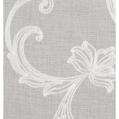 Тюль имитация льна №IE107-01 белый с белой вышивкой (add-100001), фото 3