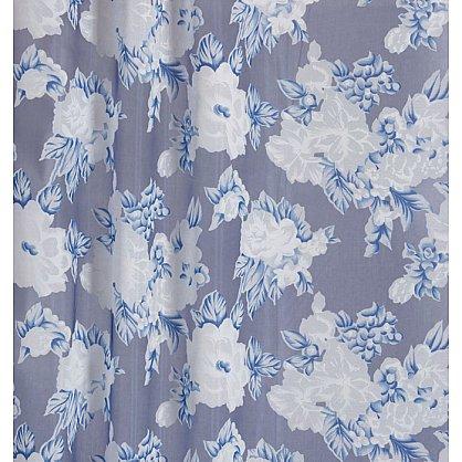 Тюль органза печать №IР105-02 Синий (add-IP-105-02), фото 2
