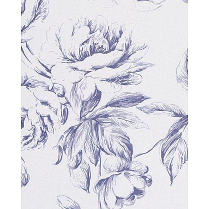 Тюль вуаль №IР108-04 синие цветы (add-100003), фото 3