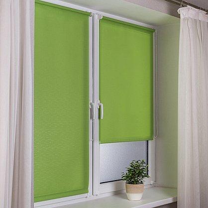 "Рулонная штора эконом ""Сантайм Лен"", светло-зеленый (df-200201-gr), фото 1"