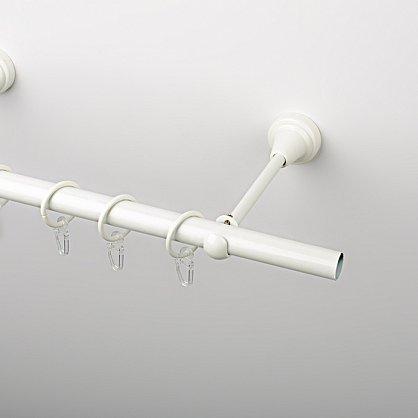 Карниз металлический стыкованный, 1-рядный, белый пиано, гладкая труба, ø 19 мм (df-200064-gr), фото 1