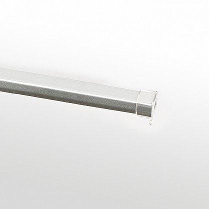 """Карниз металлический стыкованный c наконечниками """"Корсо"""", 3-рядный, хром матовый, гладкая труба, ø 16 мм (kn-857), фото 4"""