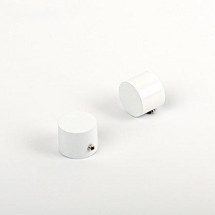 "Комплект заглушек ""Кап"", белый пиано, диаметр 19 мм (df-100864), фото 1"