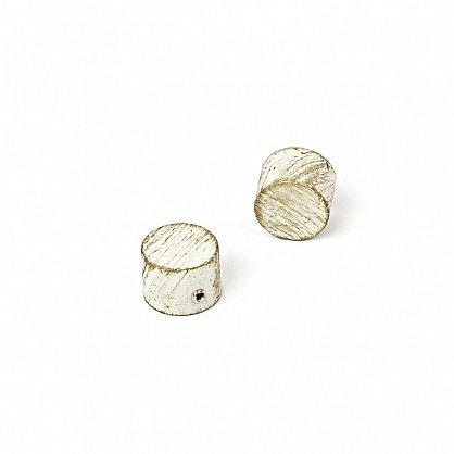 """Карниз металлический стыкованный c наконечниками """"Кофу"""", 2-рядный, белое золото, гладкая труба, ø 25 мм (kn-870), фото 4"""
