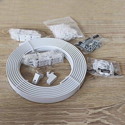 Гибкий карниз в рулоне, 1-рядный, белый, 500 см (df-102684), фото 5