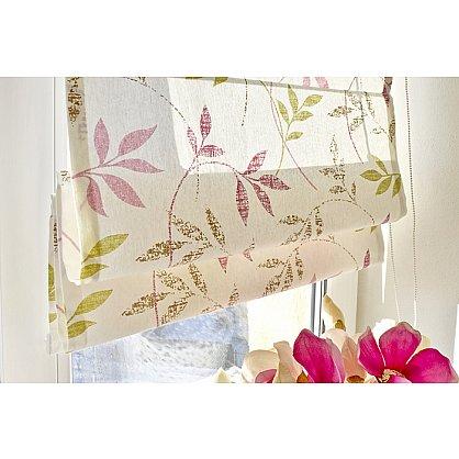 """Римская штора """"Flora"""", розово-салатовый (df-200173-gr), фото 2"""