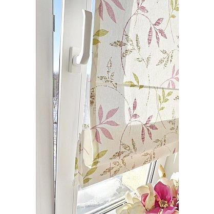 """Римская штора """"Flora"""", розово-салатовый (df-200173-gr), фото 3"""