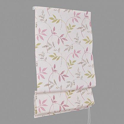 """Римская штора """"Flora"""", розово-салатовый (df-200173-gr), фото 4"""