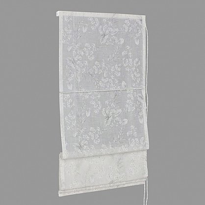 """Римская штора мини """"Sia Visilio oasis con plomo"""", белый blanco (цветы) 10, ширина 68 см (df-101505), фото 5"""