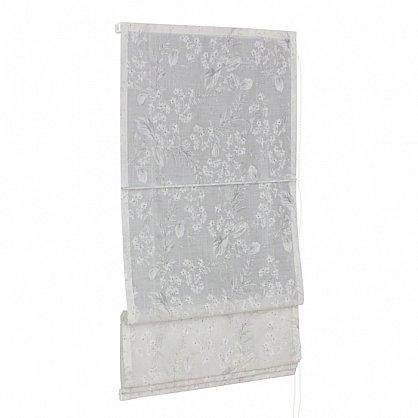 """Римская штора мини """"Sia Visilio oasis con plomo"""", белый blanco (цветы) 10, ширина 68 см (df-101505), фото 4"""