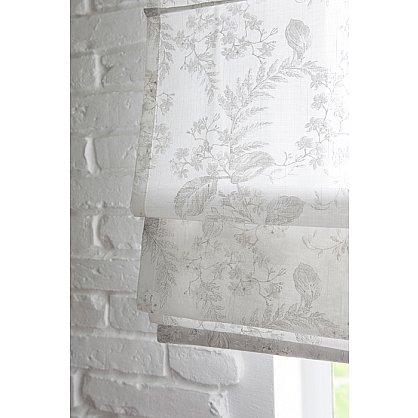 """Римская штора мини """"Sia Visilio oasis con plomo"""", белый blanco (цветы) 10, ширина 62 см (df-101504), фото 3"""