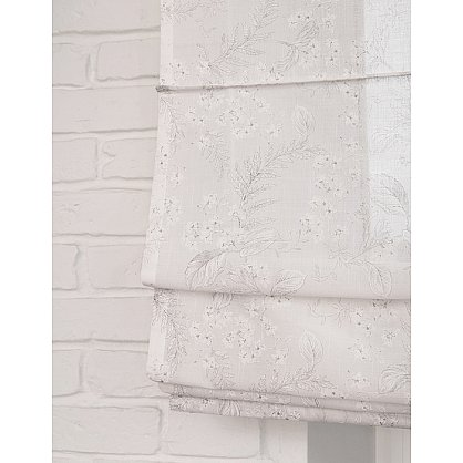 """Римская штора мини """"Sia Visilio oasis con plomo"""", белый blanco (цветы) 10, ширина 57 см (df-101503), фото 2"""