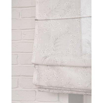"""Римская штора макси """"Sia Visilio oasis con plomo"""", белый blanco (цветы) 10, ширина 160 см (df-101510), фото 1"""