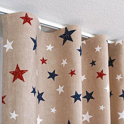 Комплект штор Sky Loneta, красные звезды (rojo), 200*270 см (df-102990), фото 5