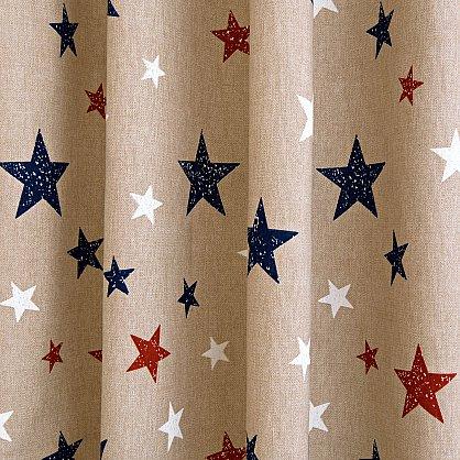 Комплект штор Sky Loneta, красные звезды (rojo), 200*270 см (df-102990), фото 7