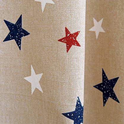Комплект штор Sky Loneta, красные звезды (rojo), 200*270 см (df-102990), фото 8