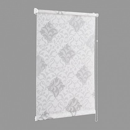"Рулонная штора ""Сантайм-рисунок Футура белый/серебро"", ширина 43 см (2910-47(43)), фото 2"