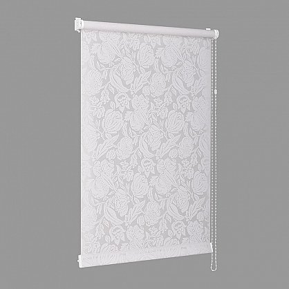 """Рулонная штора """"Сантайм-рисунок Глория Белая роза"""", ширина 115 см (276-119(115)), фото 3"""