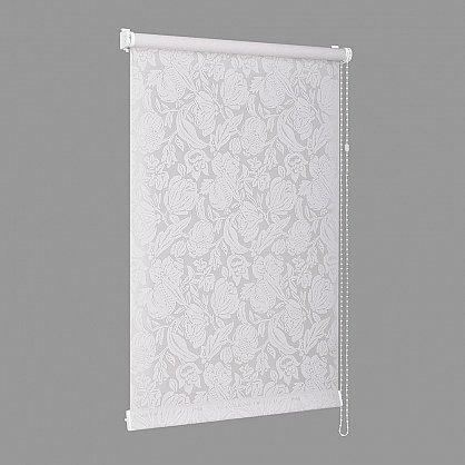 """Рулонная штора """"Сантайм-рисунок Глория Белая роза"""", ширина 73 см (276-77(73)), фото 3"""