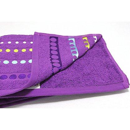 """Полотенце """"Диско"""" в новогодней упаковке, фиолетовый, 50*90 см (F-disco-f-50), фото 3"""